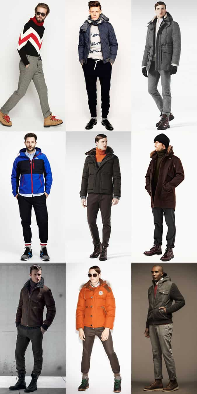 Men's Apres-Ski Outfit Inspiration Lookbook - Winter Trousers, Luxe Sweat Pants and Heavyweight Chinos/Jeans