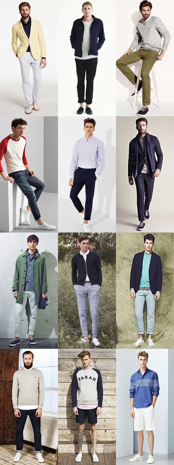 Men's Smart-Casual Trainers, Plimsolls and Derby Shoe Styling - Outfit Inspiration Lookbook