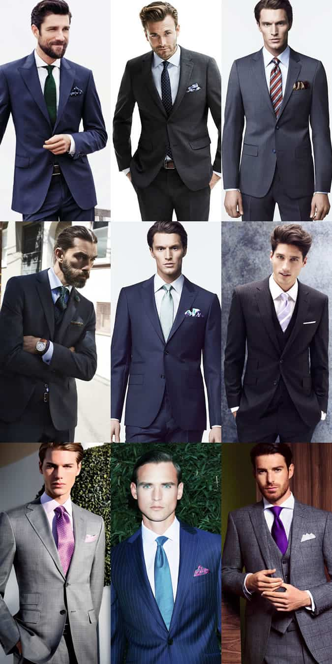 Men's Boardroom/Corporate/City Slicker Outfit Inspiration - Shirt, Ties and Pocket Squares