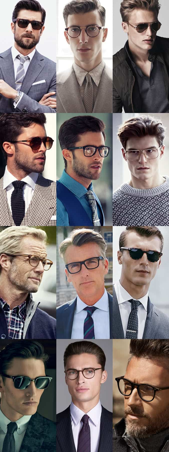 Men's Sunglasses And Optical/Spectacle Frame Types Lookbook