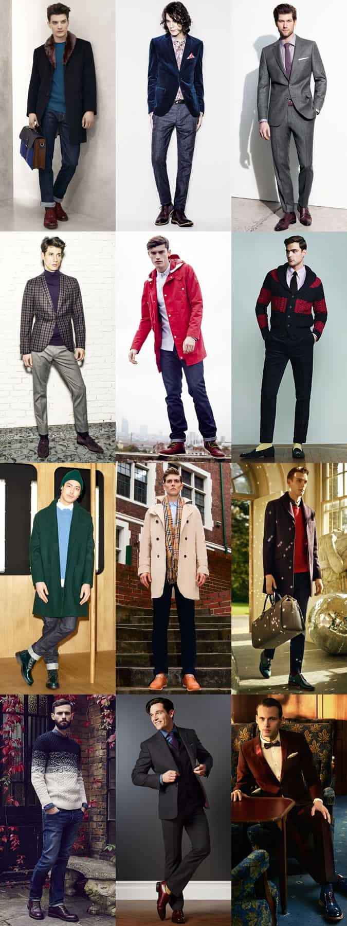 Men's Bold Coloured Footwear/Shoes/Trainers Outfit Inspiration Lookbook