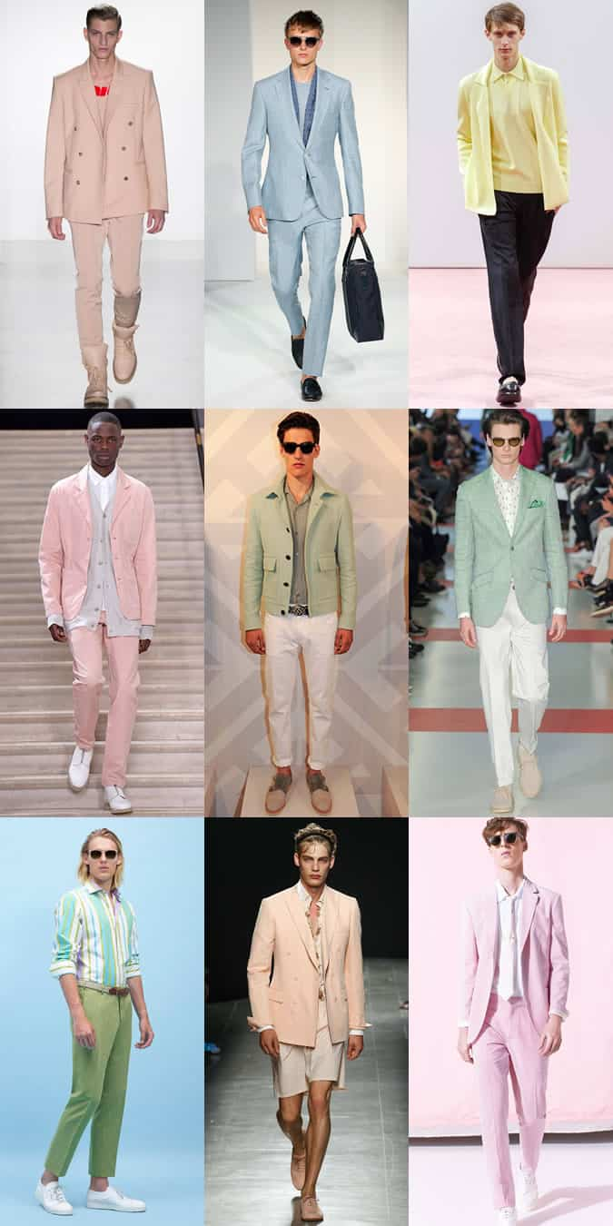 Men's Pastel Coloured Pieces On The Spring/Summer 2015 Runways