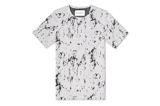 OUR LEGACY WORK TEE Grey Cracked Linen
