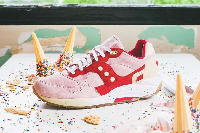 Saucony Scoops Pack G9 Shadow 6 Strawberry Vanilla Collection