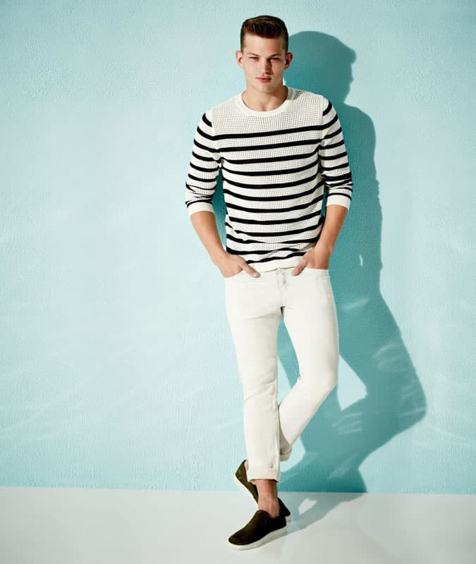 Men's Striped Top - River Island Summer 2015
