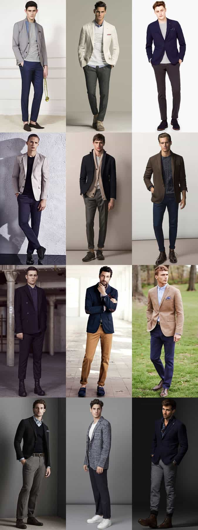 Men's Unstructured Tailoring Outfit Inspiration Lookbook