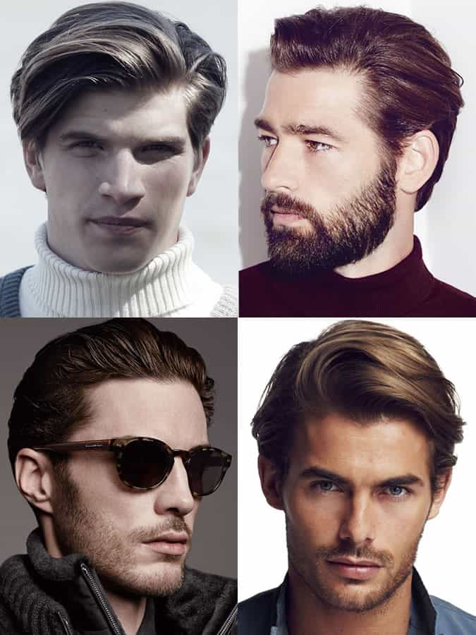 Men's hairstyles / haircuts for heart face shapes