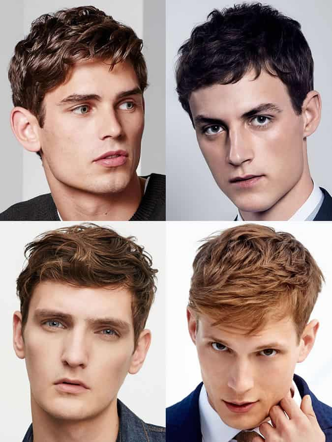 Men's hairstyles / haircuts for elongated / rectangular face shapes