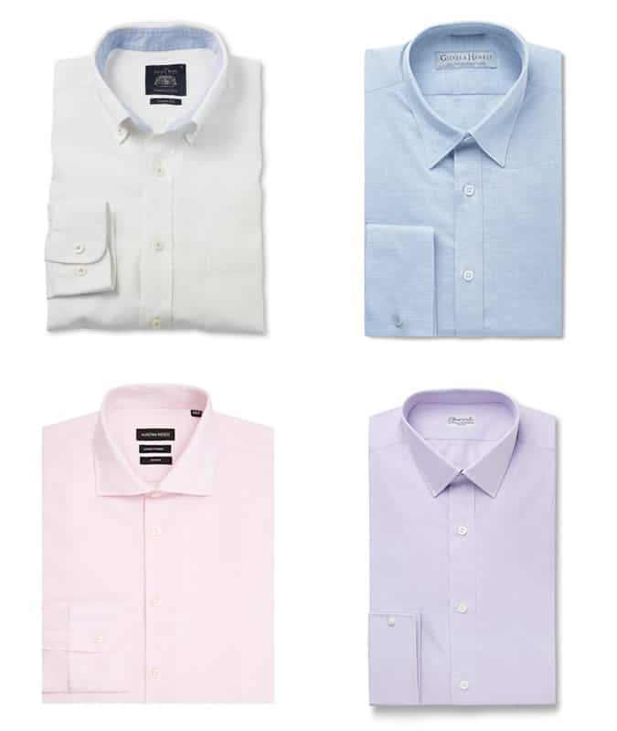 Men's Linen-Cotton Blend Smart Shirts
