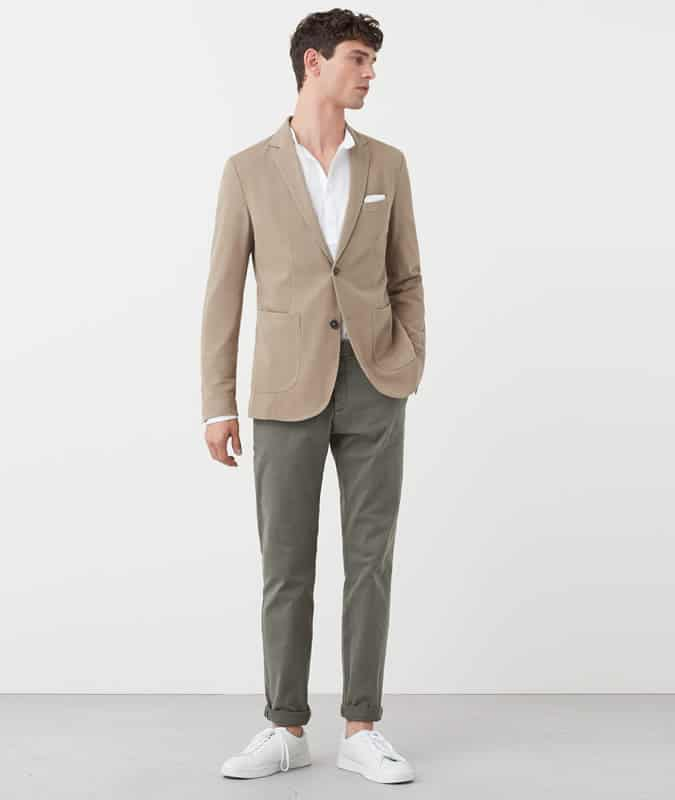 Men's Outfit Inspiration Lookbook - Earth Tones Blazers and Trousers