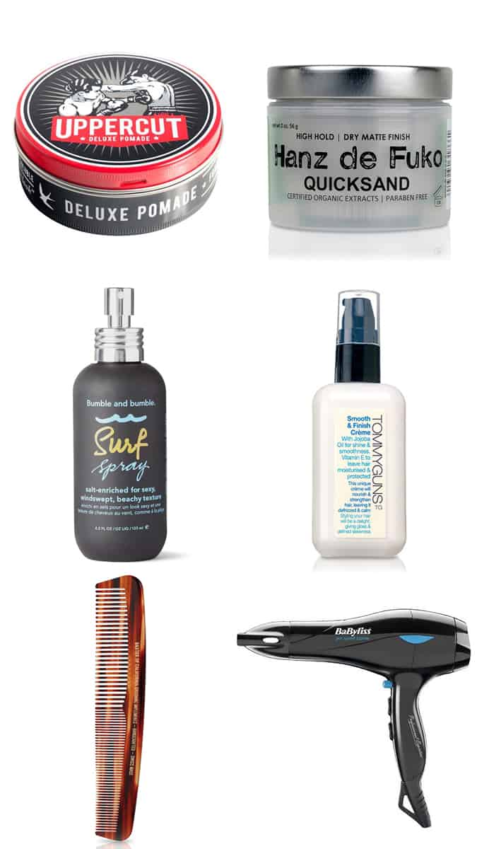 Men's Quiff Hairstyles Styling Products