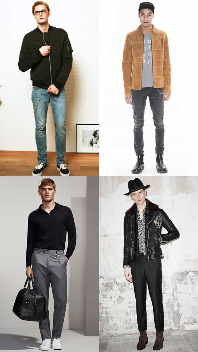 Men's Key Chains and Wallet Chains Outfit Inspiration Lookbook - Autumn/Winter 2016 Accessory Trends
