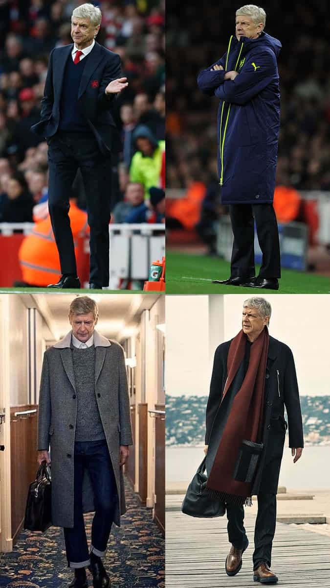Arsène Wenger Outfits/Style