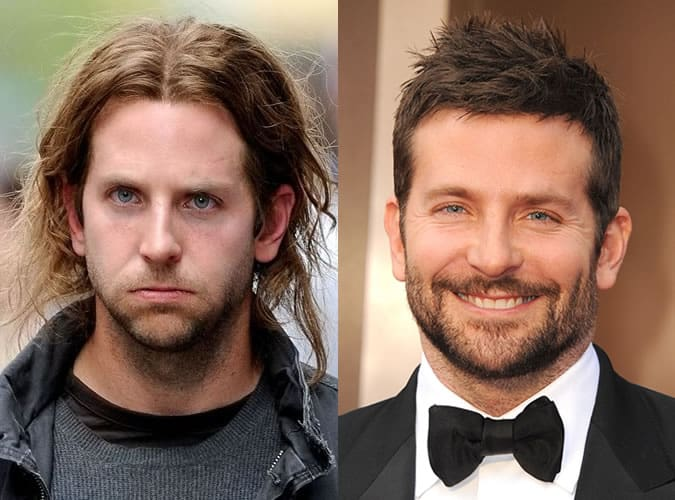 Bradley Cooper Haircuts - Then and Now