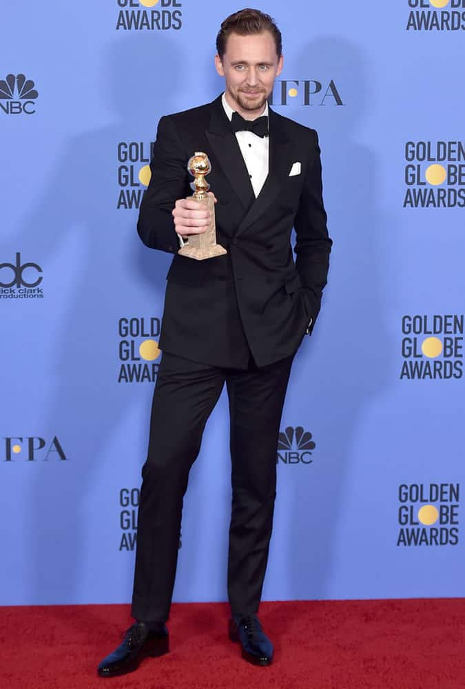 Tom Hiddleston At The 74th Annual Golden Globes