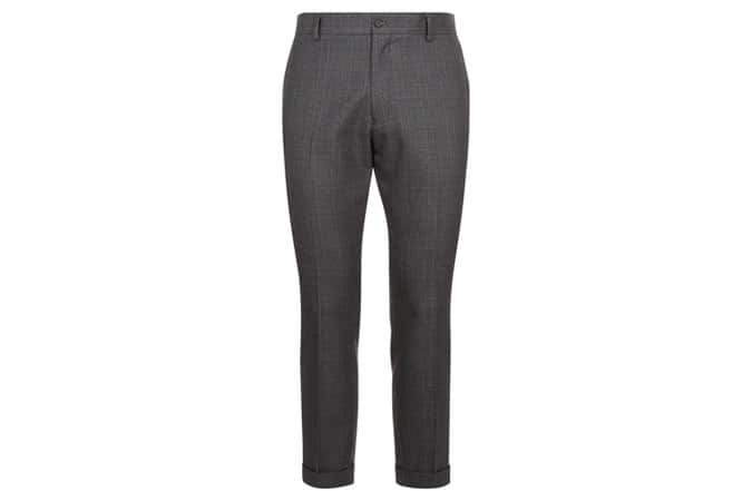 New Look Grey Check Cropped Suit Trouser