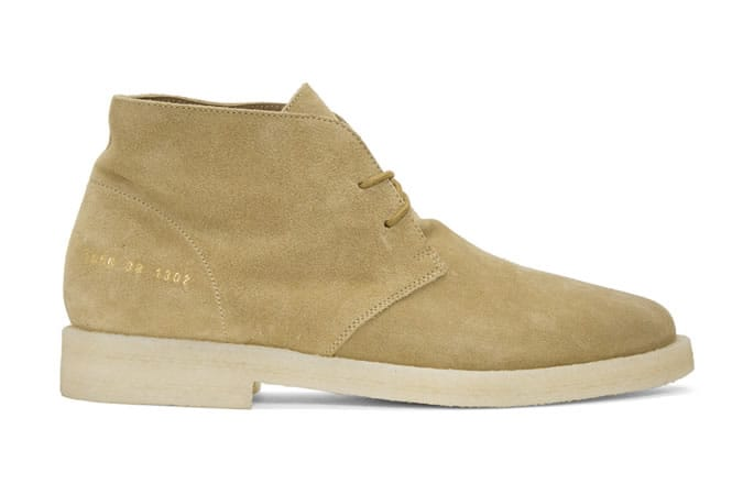 Common Projects Tan Suede Chukka Boots