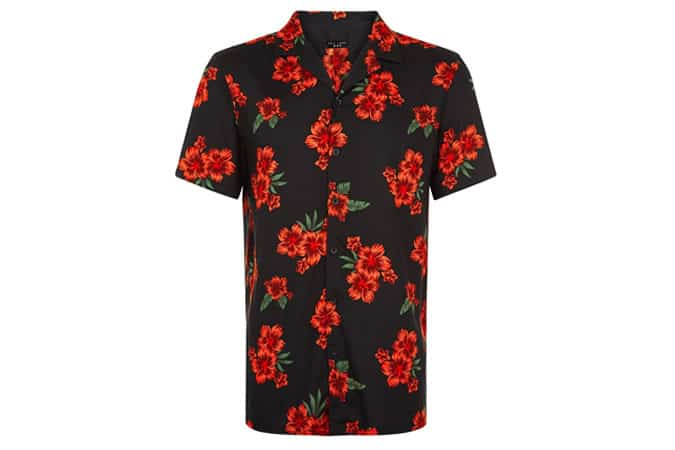 New Look Red Floral Shirt