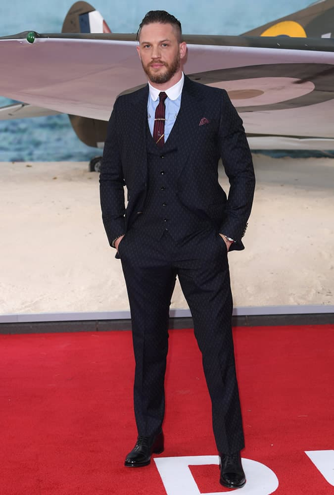 Tom Hardy at Dunkirk premiere