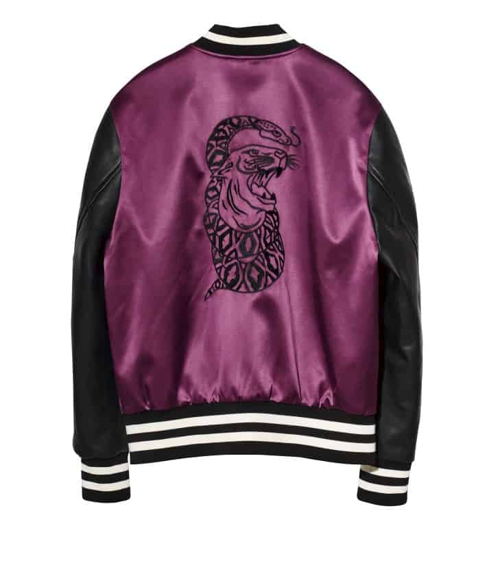 the weeknd h&m snake bomber jacket souvenir jacket