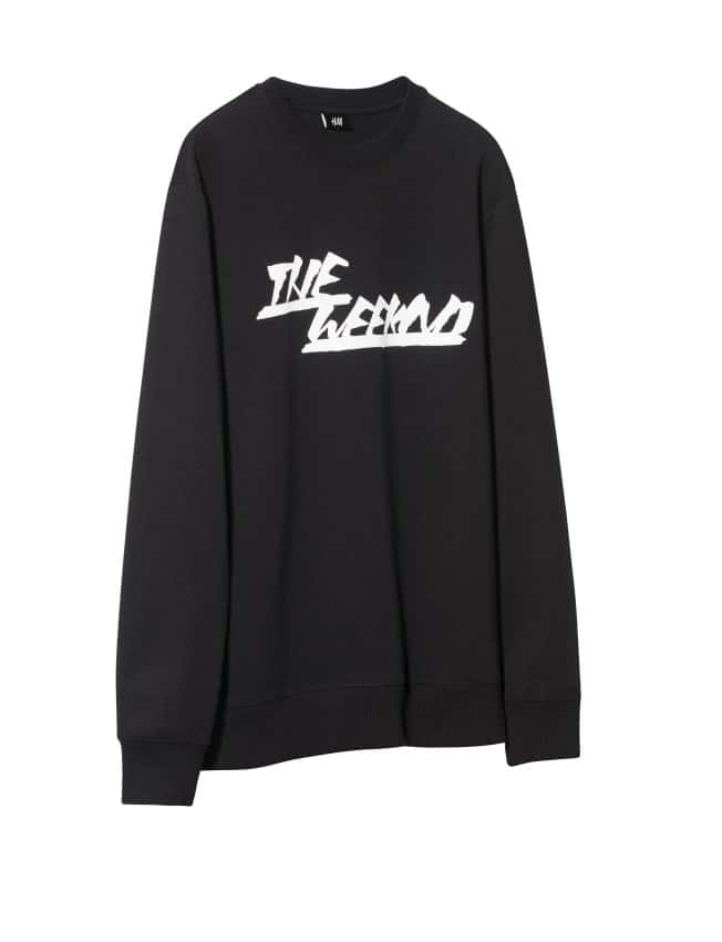 the weeknd h&m black sweatshirt