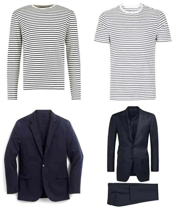 how to wear a Breton top with a navy blazer