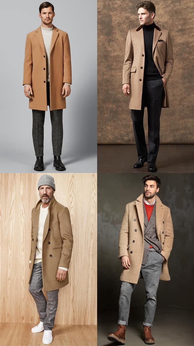 Men's Camel Overcoats Outfit Inspiration Lookbook For Autumn/Winter 2017
