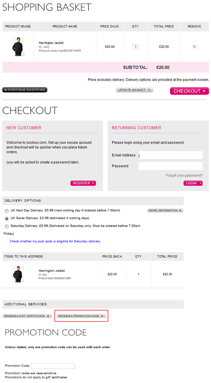 Where To Enter Your Boohoo Discount Code On Site