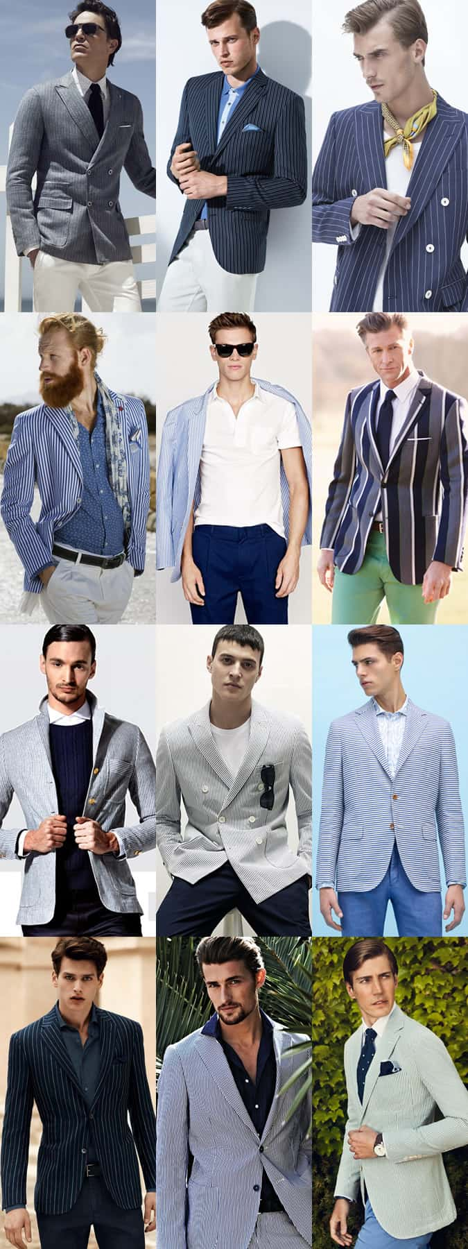Men's Striped Blazers - Spring/Summer Outfit Inspiration Lookbook