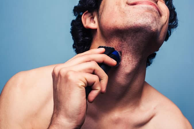 Prevent irritation by shaving sensitive areas first