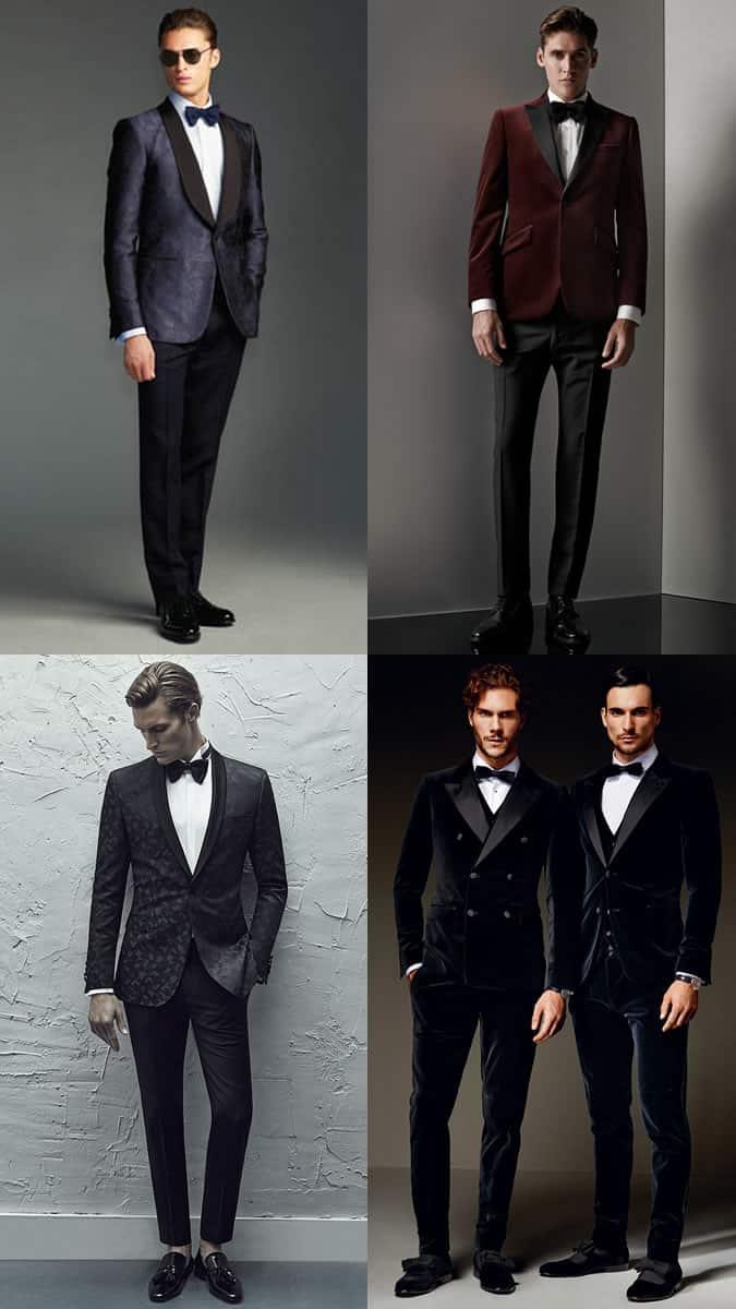 Men's Black Tie Alternative/Creative Dress Code Outfit Inspiration Lookbook