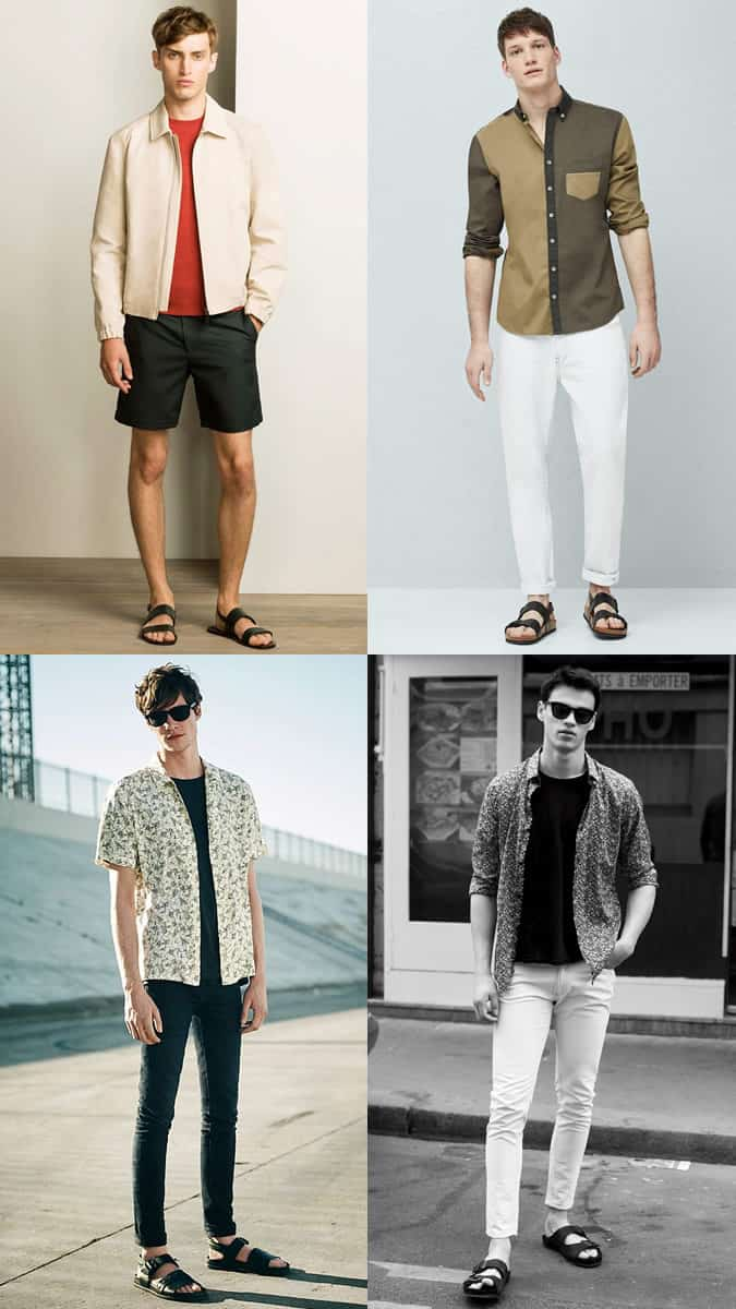 Men's Leather Sandals Outfit Inspiration Lookbook