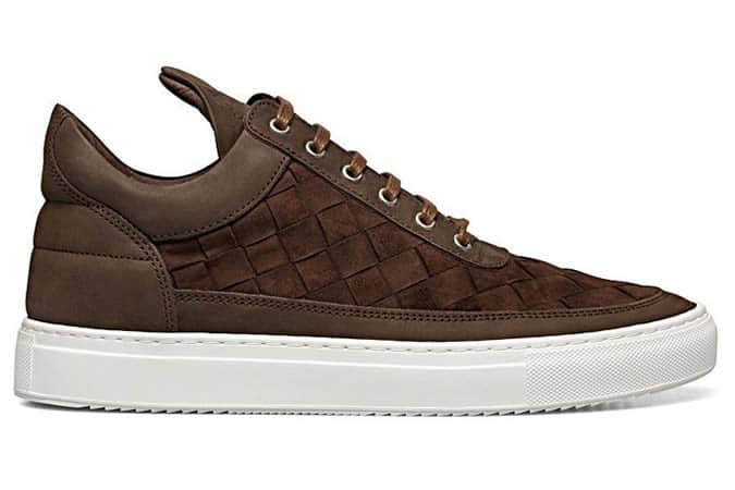 Filling Pieces Low Top Gradient Woven Brown