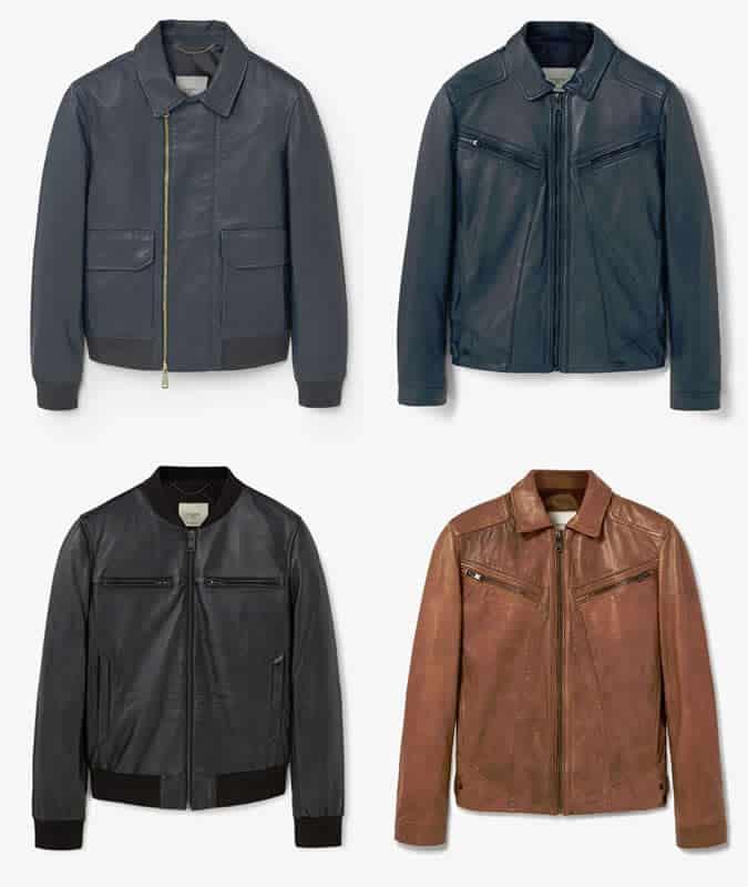 Mango Man Leather Jackets