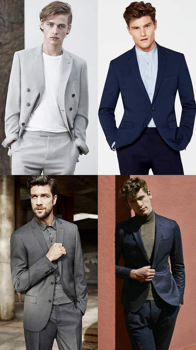 Men's Alternative Shirts and Tops with Suits and Blazers Outfit Inspiration Lookbook