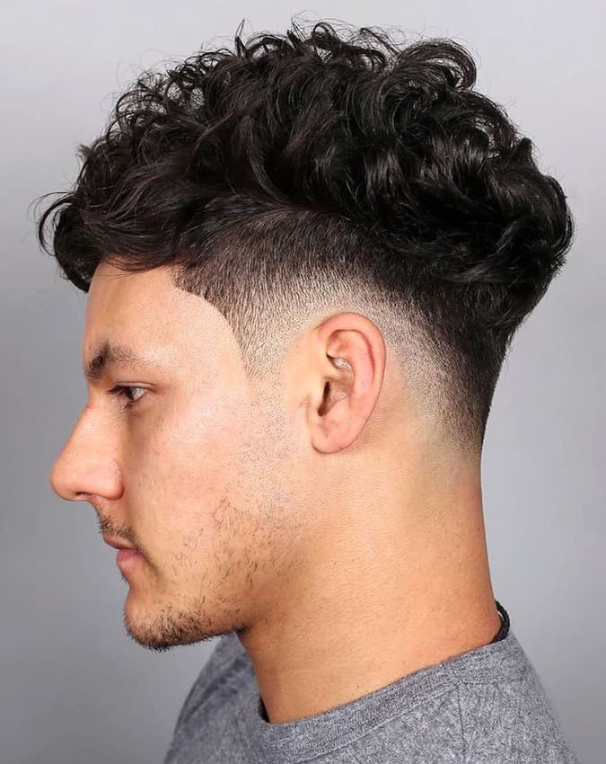 10 Hairstyles That Look Great With A Fade - Curly Fade
