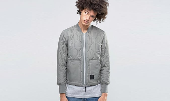 Cheap Monday Trouble Quilt Bomber Grey