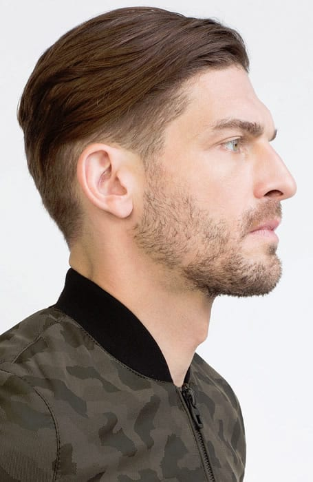 Men's Fade With Sweep-Back