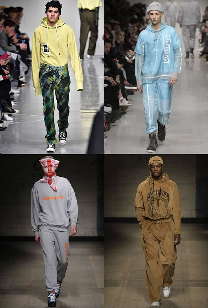 Men's Tracksuits and Hoodies on LFWM AW17 Runways