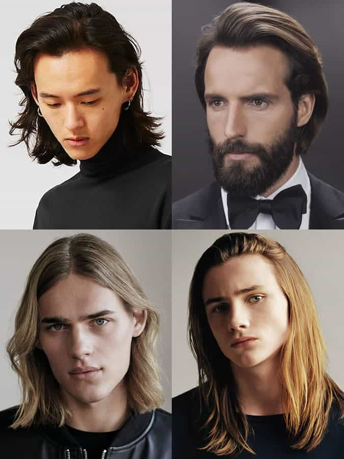 Men's Straight Long Hairstyles