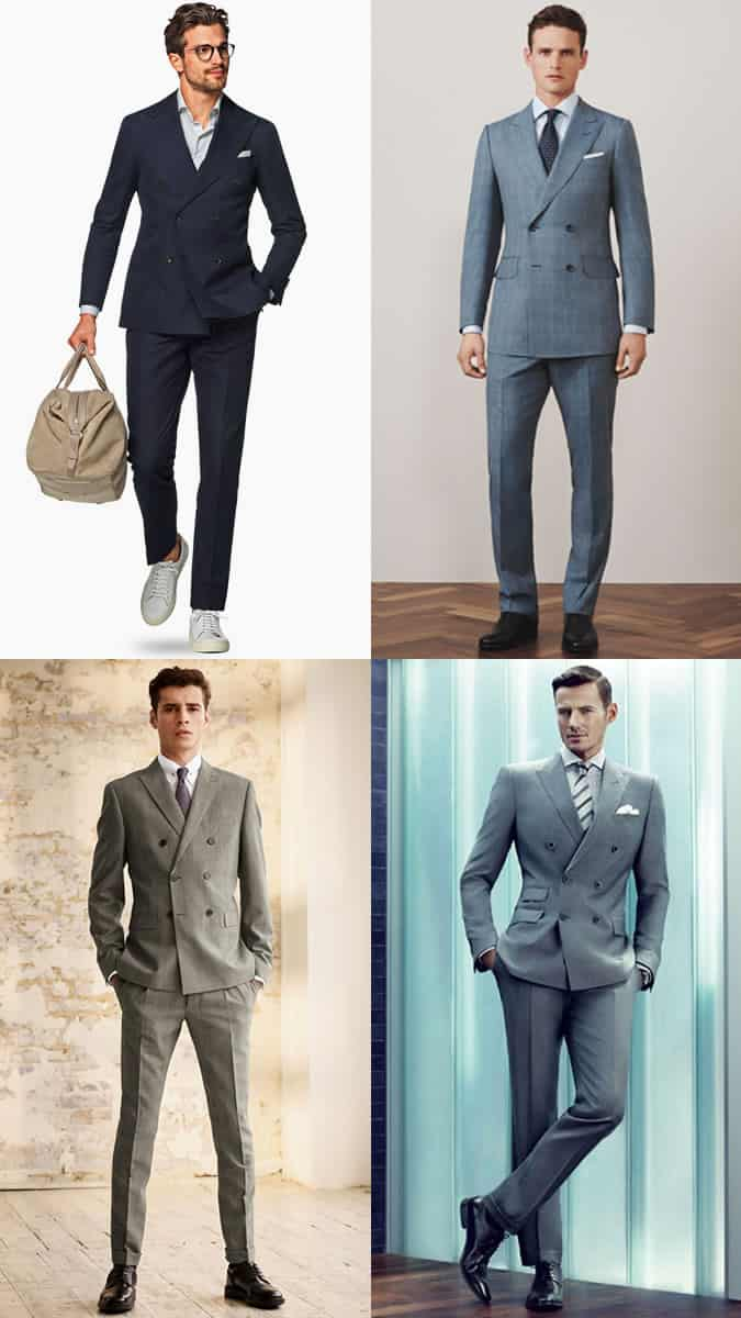 Men's Double-Breasted Suits Outfit Inspiration Lookbook