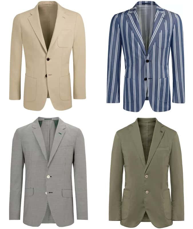 Men's Unlined Blazers and Jackets