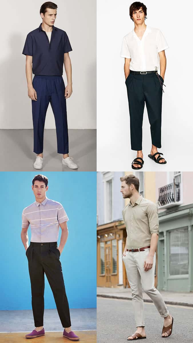 Tucked in shirts with trousers - summer 2018 men's fashion trend