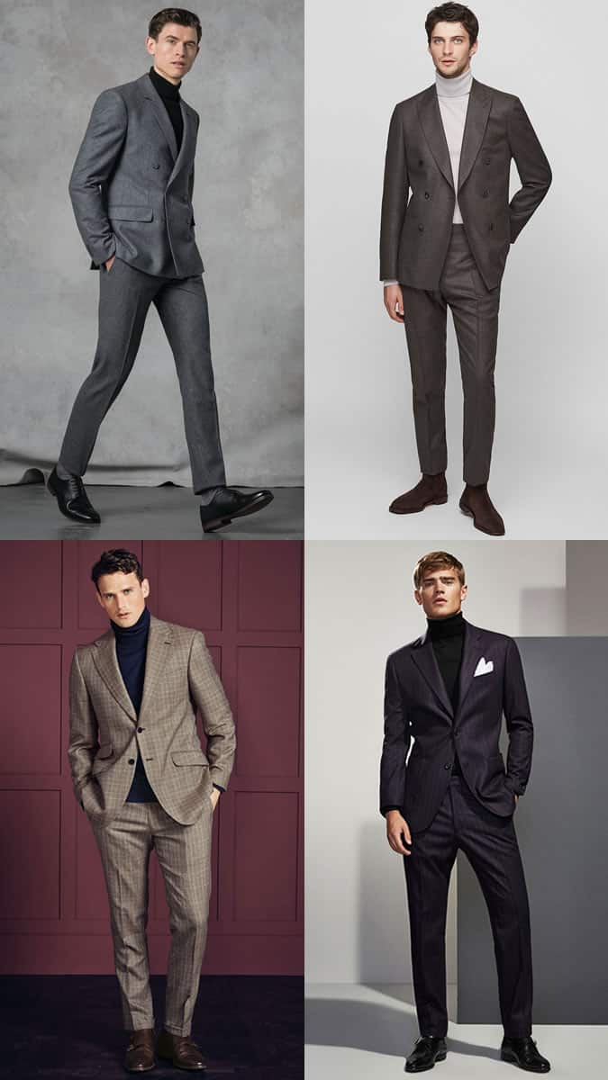 How to wear a roll neck or turtleneck with a suit