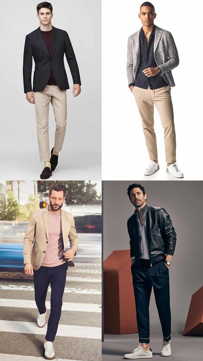 smart-casual outfits with jackets