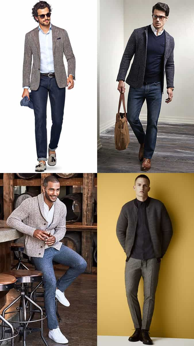 textured outfits for smart-casual dress codes