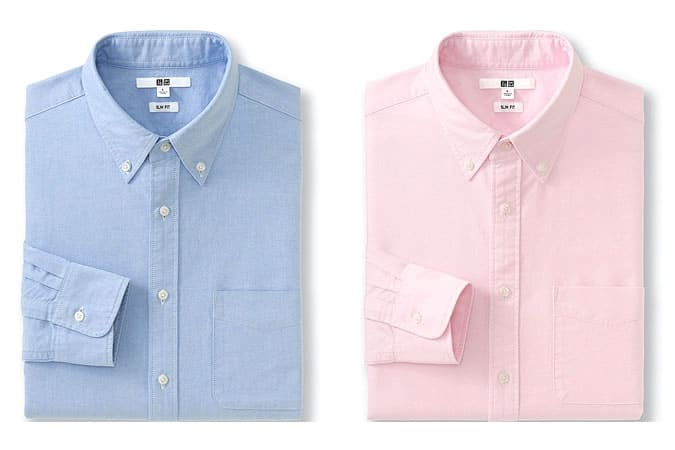 Men's Basic Oxford Button-Down Shirts by Uniqlo