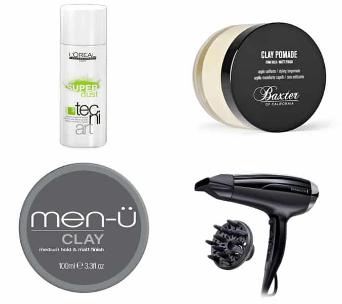 styling products for men's haircuts with a cropped blunt fringe