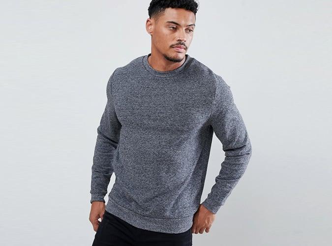 ASOS DESIGN sweatshirt in charcoal