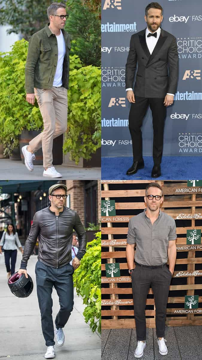 Ryan Reynolds as a style icon in his 40s